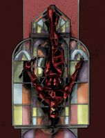 Daredevil Stain Glass by cmdelaney88