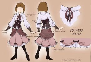 Country Lolita outfit by Kairi-Moon