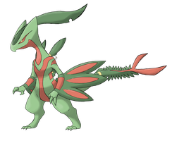 Mega Sceptile ''Y'', maybe? by IqbalPutra