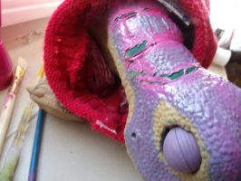 Pleo neck paint rip by bunniesRawesome