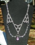Drape Necklace With Pendant by ydoc16