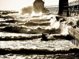 Kayaking at the pier by UnbrokenSaviour