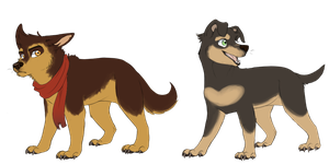 Lok Puppies - Mako and Bolin by The-Chibster