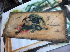 Survival of the Fittest - M:tG Leather Playmat - 1 by deadlanceSteamworks