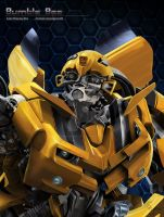 Bumble Bee portrait by Unspokenwolf