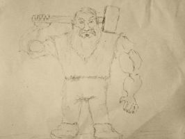 Dwarf With Hammer by locaxgrave