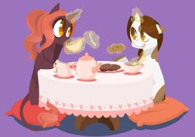 Art Trade:There ain`t tea party like mah tea party by lisitis