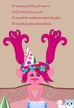 Poppy's pity party by Queenkiki38