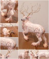 Deer Sculpture by MyselfMasked