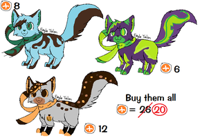 [OPEN] Themed Kitten Adoptables by republish