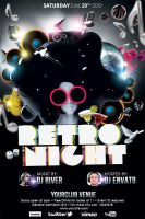 Retro Nights Flyer Template by koza30