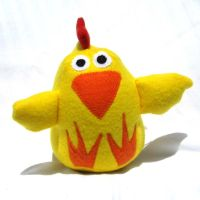 Stuffed Chicken Plush Toy by ZodiacEclipse