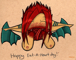 Happy Eat-A-Heart day colored by dragontrap