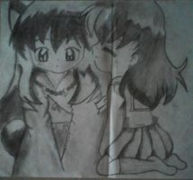 Inuyasha and kagome by myuver