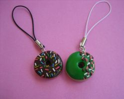 Donut Phone Charms by ClayMyDay
