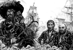 pirates of the caribbean barbossa by FDupain