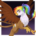Rainbow Feather Marked By Kilala97 by Q99
