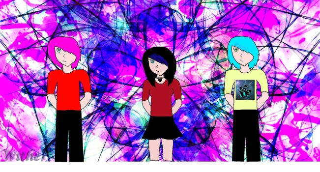 Two new OC's and my Persona by fairyqueen1999