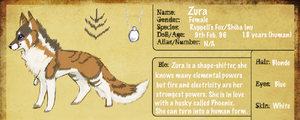 Zura Ref Sheet by AmethystCreatures