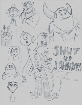 'SHUT UP, JOHNNY!' scene from Life's a Scream! by Cartuneslover16