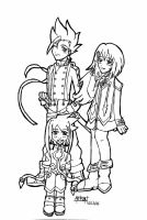 Lloyd, Ninis and Coco XD by Ariall