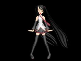 MMD Newcomer - Animasa Metal Zatsune Miku by Xeno-Fan-Jinusa