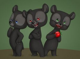 Bad Cub Trio by Birvan