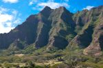 Oahu ranch and mountains by Robby-Robert