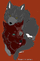 Nymeria and Eve by KaliFHunter20