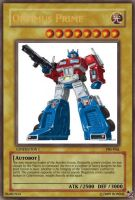 Optimus Prime Yu-Gi-Oh Card by Ronnie-R15