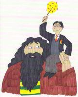 Harry Potter and Hagrid by EmperorNortonII