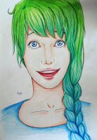 Green and Blue Girl by AyoraPics