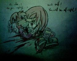 Rayman Knuckles:tears by amberday