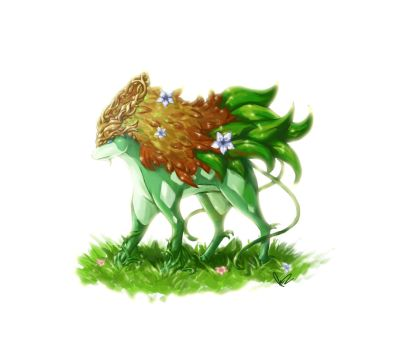 A different type of Pokemon: Suicune grass type by HealingTime