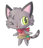 My cat as Animal Crossing character by fuwante-chan