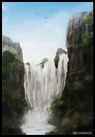 Waterfall - Final by ApneicMonkey