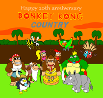 Donkey Kong Country 20th anniversary! by DarkDiddyKong