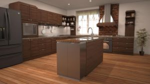Kitchen 3D Render by bobi-z