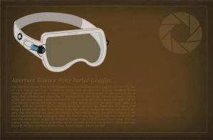 Aperture Science Pony Portal Goggles by Mynder