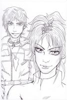 Rose and Cashard -sketch- by CandraRose