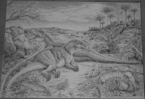 Two Allosaurs by c-compiler