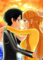 +: Kirito and Asuna~ SAO:+ by FlyingCatsandGlitter