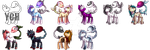 YCH: Plant Pony icons (OPEN) by xKarka