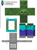 Paper Pezzy- Zombie 'Minecraft' by CyberDrone