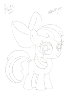 Applebloom Sketch by Scoutaloo
