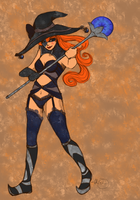Eliana the Black Mage by hatchback-girl