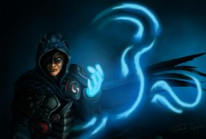 Jace Beleren - Magic the Gathering by visualinfinity