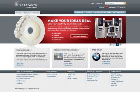 Stratasys Home Page by curtisman