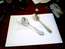 3d Spoon by Xezra