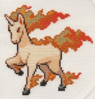 Rapidash Cross Stitch by samadz